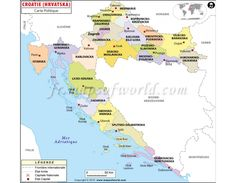 Physical Map Of Croatia Ezilon Maps European Federation - Croatia physical map