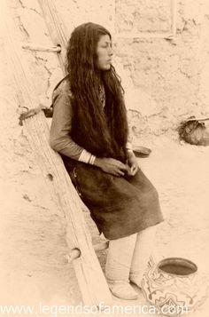 Pueblo Maiden, 1890 by Legends of America, via Flickr