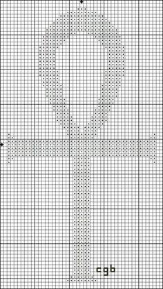 Free Small Ankh Cross StitchPattern