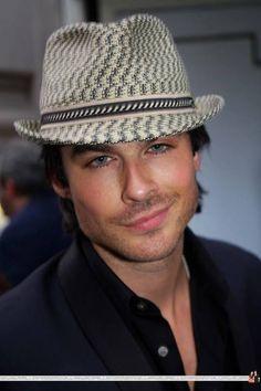 Ian Somerhalder ~~~~ Like he wasn't gorgeous enough I love the hat!