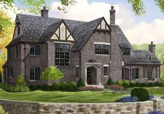 Looking for the best house plans? Check out the Oxfordshire plan from Southern Living. Southern Living House Plans, European House Plans, Sims 4 House Plans, Best House Plans, Tudor House, Style At Home, Future House, My House, Ikea