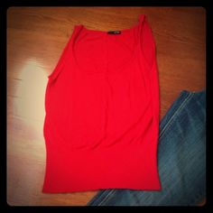 J. Crew Red Knit Tank Gorgeous little piece.  Can be worn alone or layered with a shirt under like a sweater vest. J. Crew Sweaters