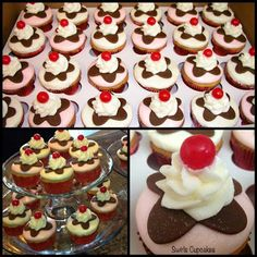 Ice Cream birthday cupcakes by Swirls