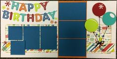 Two Scrapbook Friends Birthday Scrapbook Layouts, Scrapbook Layout Sketches, Kids Scrapbook, Travel Scrapbook, Scrapbook Albums, Scrapbooking Layouts, Scrapbook Cards, Scrapbook Frames, Happy Birthday Boy