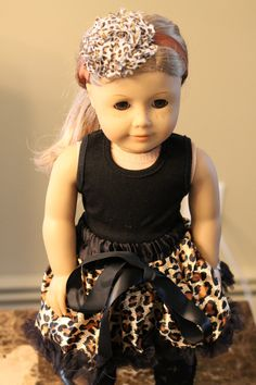 American Accessories by miniME - Brown Cheetah Leopard Print Shabby Headband or Clips for American 18 inch Girl Doll. $5.00, via Etsy.