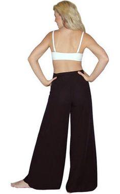 Black Bali Rayon Wrap Pants