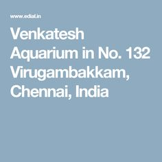Venkatesh Aquarium in No. 132 Virugambakkam, Chennai, India