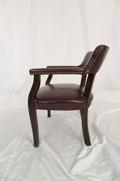 Vinyl Upholstery Office Guest Arm Chair With A Hardwood Frame Sophisticated  Captainu0027s Chair. Customarily Made