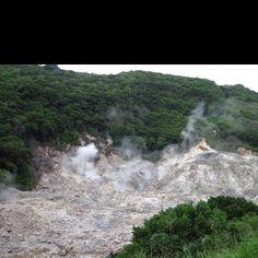 Sulphur Springs in Simply Beautiful Saint Lucia.