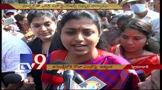 YSRCP dharna at Assembly as Marshalls blocked Roja