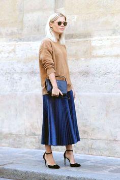 3 Stylish Ways To Wear A Pleated Midi Skirt