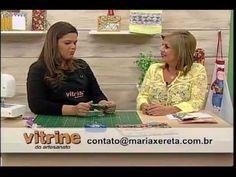 Porta celular com Renata Silva - Vitrine do Artesanato na TV Baby Kit, Youtube, Patches, Quilts, Sewing, Tablet, Craft Videos, Scrappy Quilts, Good Ideas