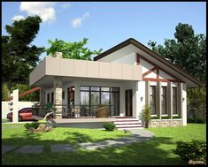 Simple house design in the new bungalow dream e interior small designs my game . small beautiful bungalow house design ideas ideal for dream Simple Bungalow House Designs, Flat Roof House Designs, Modern Bungalow House Plans, Bungalow Haus Design, Small Bungalow, Simple House Design, House Design Photos, Dream Home Design, Small House Plans
