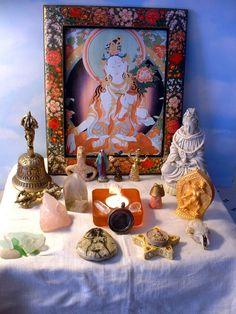 photos of buddhist alters
