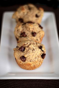 Chocolate Chip Cookie Muffins - three variations of a delicious recipe, from filled with decadence to filled with whole grains and protein.