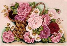 Decoupage Printables, Floral Printables, Napkin Decoupage, Decoupage Paper, Colorful Flowers, Beautiful Flowers, Rose Pictures, Vector Flowers, Rose Art