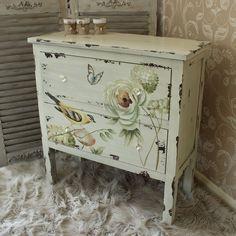 Botanical Range - Cream Floral Chest of Drawers