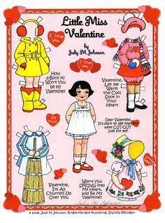 Valentine cards & paper dolls - DollsDoOldDays - Picasa Web Albums