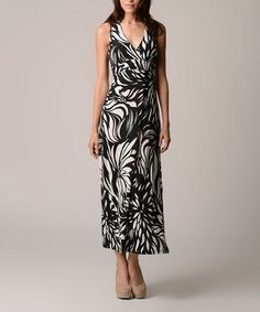 Another great find on #zulily! Black Back-Cutout Empire-Waist Maxi Dress by Christine V #zulilyfinds