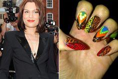 Jessie J's Tribal Manicure
