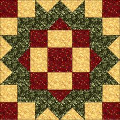 The Loyal Daughter - Jennifer Chiaverini, Quiltmaker's 100 Blocks Vol. Scrappy Quilt Patterns, Scrappy Quilts, Mini Quilts, Quilt Blocks, Star Blocks, Quilting Tutorials, Quilting Projects, Quilting Designs, Quilting Ideas