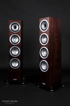 Tannoy Precision 6.4 Speakers - Satin Walnut. Vibrant, clean, dynamic , precise, controlled, fast, extremely musical. We run this entire series on Prima Luna gear or M1 and M2 level Audio Note. A steal.