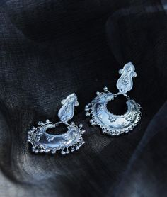 Buy Taraash...Impressions of Benaras by Vijayshree Sovani Designs Handcrafted Embossed Gold-Plated, Silver Earrings Online at Jaypore.com