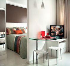 Marcenaria sob medida faz milagre em apartamento de apenas 25 m².