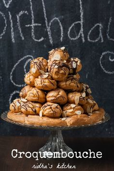 Croquembouche...this would be fun to make for christmas