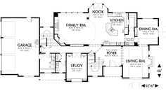 First Floor Plan image of Featured House Plan: BHG - 2755 4600 ft is too much for two people. Right?