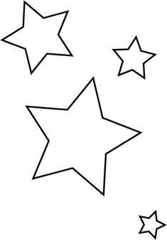 Printable Crescent Moon Template - Her Crochet Applique Templates, Stencil Templates, Stencils, Ramadan Crafts, Ramadan Decorations, Ramadan Lantern, Printable Star, Star Stencil, Baby Mobile