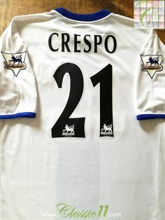 Official Umbro Chelsea away football shirt from the 2003/04 season. Complete with Crespo #21 on the back of the shirt and Premier League patches on the sleeves.