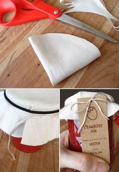Fabric Jam Jar Topper How To + Free Printable Jam Tags & Labels