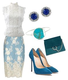 """""""Untitled #63"""" by aksackie on Polyvore featuring River Island, Oscar de la Renta, Effy Jewelry and Chloé"""