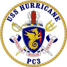 USS Hurricane (PC-3) patrol ship´s crest