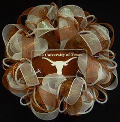 Texas Longhorns College Football Longhorn Decor by wreathsbyrobin, $60.00