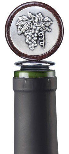 Prodyne Grape Medallion Bottle Stopper by Prodyne. $6.99. Prodyne Grape Medallion Bottle Stopper Crown your finest vintage in style with this handsome pewter bottle stopper. This stopper features a decorative grape motif medallion mounted on premium hardwood and fitted with an airtight silicone seal. Model: WM-1-G
