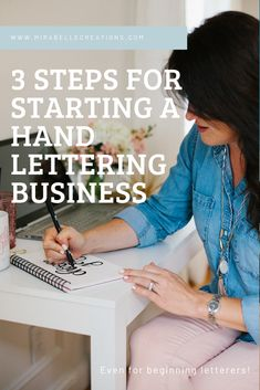 Girl Boss Series: How to Start a Hand Lettering Business - Mirabelle Creations Hand Lettering Quotes, Brush Lettering, Boss Series, Girl Boss, Inspirational Quotes, Hands, Learning, Business, Tips
