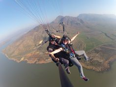 Tandem Paragliding with Fly Cape Town offers you the opportunity to see Cape Town from another angle. Paragliding, Worcester, Tandem, Cape Town, Students, Spaces, Adventure, American, Day