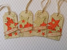 my stampart - stampin up Tag, Framelits Stars, gorgeous grunge, off  the grid