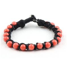Bracelet+corail+rose+%22shamballa%22+