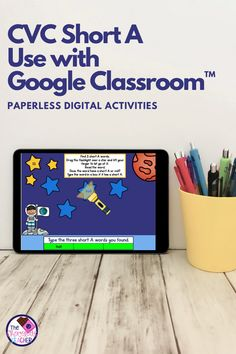 How about some NO PREP paperless digital CVC Words fun? This CVC short A Google Slides™ product is compatible with Google Clsassroom™. All you do is download, assign, Teaching Phonics, Kindergarten Literacy, Literacy Centers, Short A Activities, Blending Sounds, First Grade Phonics, School Closures, Cvc Words, Space Theme