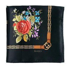 999f96f80db Gucci Floral Print Silk Scarf