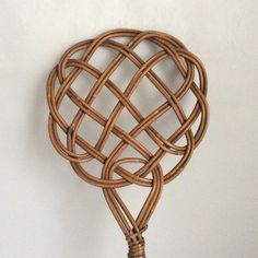 Vintage Rug beater Wicker carpet whiper woven by Berlinattic