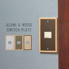 スイッチプレート おしゃれ スイッチカバー ALUMI&WOOD スイッチプレート 1口タイプ
