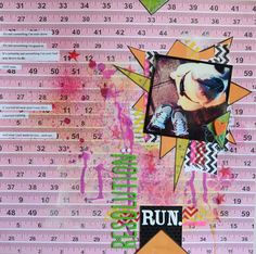 Love the burst of pink. Rulers - another trendy item.  - Paper and Pins... my handmade journey blog
