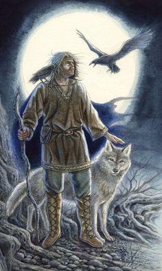 Animals Divine Tarot: Gallery: Major Arcana: The Moon