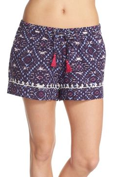 Lucky Brand Print Cotton Lounge Shorts available at #Nordstrom