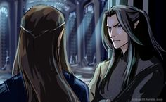 Feanor and Fingolfin by dakkun39