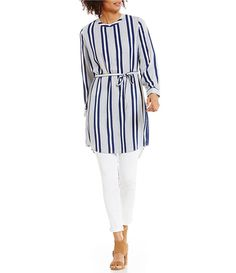 460c9bc62f7 Shop for Two by Vince Camuto Long Sleeve Stripe Rows Shirt dress at  Dillards.com